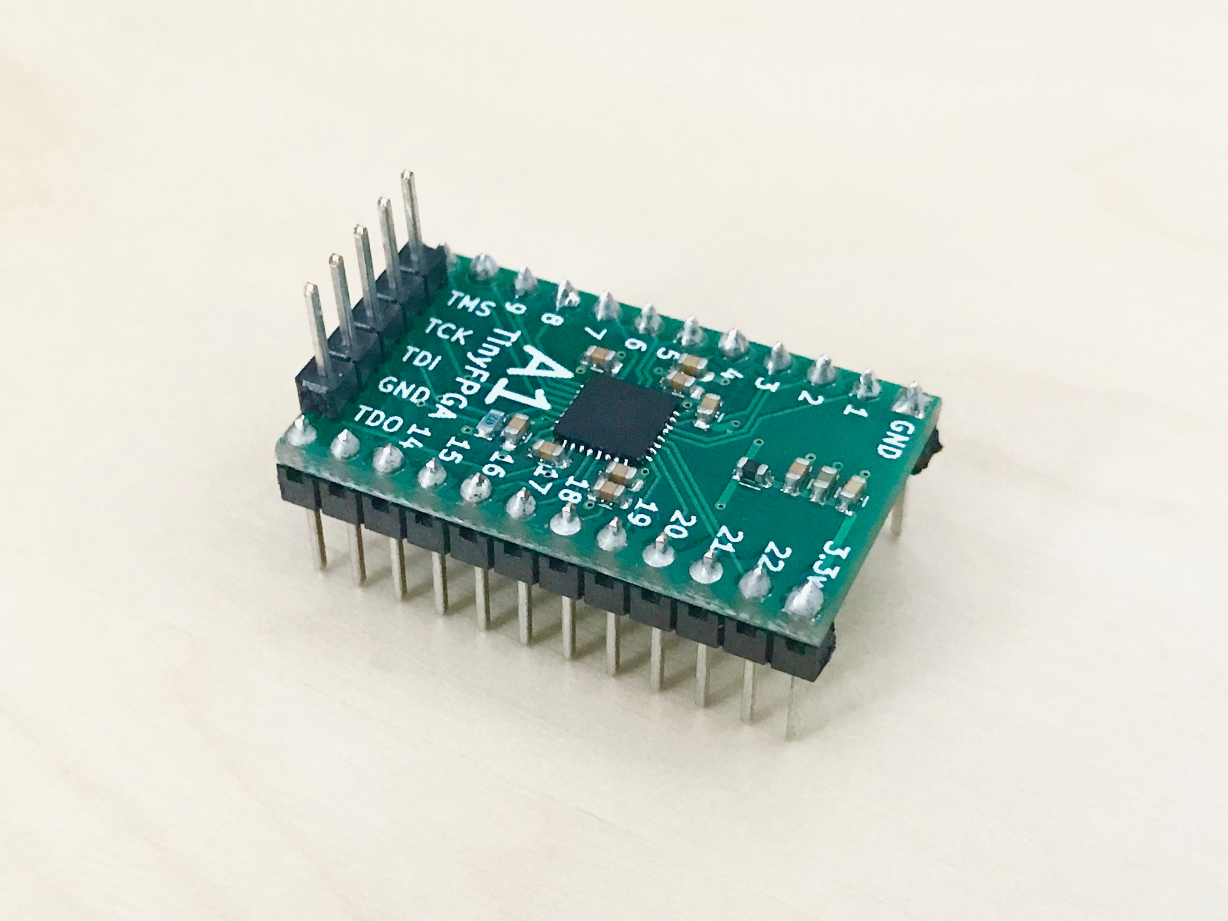 TinyFPGA A1 with pins